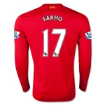 Liverpool 15/16 SAKHO LS Home Soccer Jersey