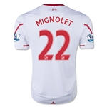 Liverpool 15/16 MIGNOLET Away Soccer Jersey
