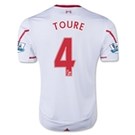 Liverpool 15/16 TOURE Away Soccer Jersey