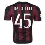 AC Milan 15/16 BALOTELLI Authentic Home Soccer Jersey