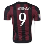 AC Milan 15/16 L. ADRIANO Authentic Home Soccer Jersey