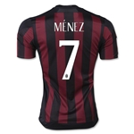 AC Milan 15/16 MENEZ Badge of Honor Home Soccer Jersey