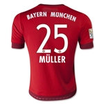 Bayern Munich 15/16 MULLER Youth Home Soccer Jersey