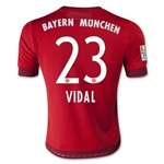 Bayern Munich 15/16 VIDAL Youth Home Soccer Jersey