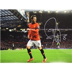 Juan Mata Signed Manchester United Old Trafford Photo
