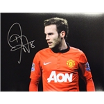 Juan Mata Signed Manchester United Photo Close Up