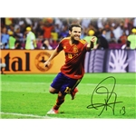 Juan Mata Signed Spain Photo Euro 2012 Final Goal vs Italy