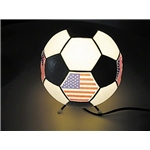 USA Flag Soccer Ball Lamp