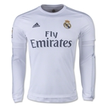 Real Madrid 15/16 LS Home Soccer Jersey