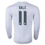 Real Madrid 15/16 BALE LS Home Soccer Jersey