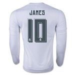 Real Madrid 15/16 JAMES LS Home Soccer Jersey