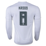 Real Madrid 15/16 KROOS LS Home Soccer Jersey
