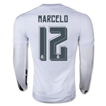 Real Madrid 15/16 MARCELO LS Home Soccer Jersey