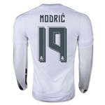 Real Madrid 15/16 MODRIC LS Home Soccer Jersey