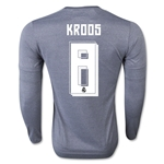 Real Madrid 15/16 KROOS LS Away Soccer Jersey