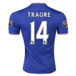 Chelsea 15/16 14 TRAORE Authentic Home Soccer Jersey