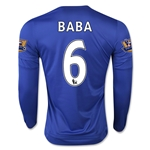 Chelsea 15/16  6 BABA LS Home Soccer Jersey