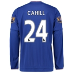 Chelsea 15/16 24 CAHILL LS Home Soccer Jersey