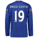 Chelsea 15/16 19 DIEGO COSTA LS Home Soccer Jersey