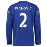 Chelsea 15/16  2 IVANOVIC LS Home Soccer Jersey