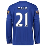Chelsea 15/16 21 MATIC LS Home Soccer Jersey