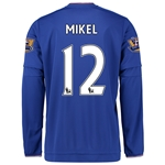 Chelsea 15/16 12 MIKEL LS Home Soccer Jersey