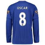 Chelsea 15/16  8 OSCAR LS Home Soccer Jersey