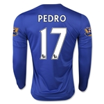 Chelsea 15/16 17 PEDRO LS Home Soccer Jersey