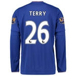 Chelsea 15/16 26 TERRY LS Home Soccer Jersey