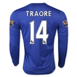 Chelsea 15/16 14 TRAORE LS Home Soccer Jersey