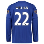 Chelsea 15/16 22 WILLIAN LS Home Soccer Jersey