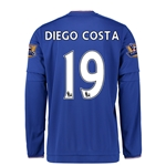 Chelsea 15/16 19 DIEGO COSTA LS Youth Home Soccer Jersey