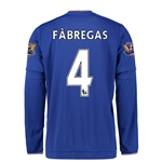 Chelsea 15/16  4 FABREGAS LS Youth Home Soccer Jersey