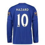 Chelsea 15/16 10 HAZARD LS Youth Home Soccer Jersey