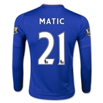 Chelsea 15/16 21 MATIC LS Youth Home Soccer Jersey