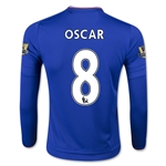 Chelsea 15/16  8 OSCAR LS Youth Home Soccer Jersey