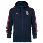 Bayern Munich 15/16 3-Stripe Full-Zip Hoody
