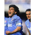 Diego Maradona Signed Photo Napoli Goal