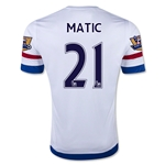 Chelsea 15/16 21 MATIC Away Soccer Jersey