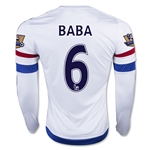 Chelsea 15/16  6 BABA LS Away Soccer Jersey