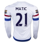 Chelsea 15/16 21 MATIC LS Away Soccer Jersey