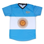 Objectivo Argentina Flag #18 Soccer Jersey (Blue)