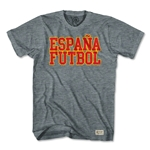 Objectivo Spain Espana Futbol Nation Soccer T-Shirt (Gray)