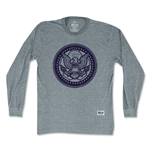 Objectivo USA Eagle Soccer Ball Long Sleeve T-Shirt (Gray)