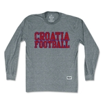 Objectivo Croatia Nations Soccer Long Sleeve T-Shirt (Gray)