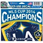 LA Galaxy MLS Cup 2014 Winner 5 X 6 Decal