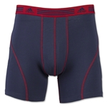 adidas Athletic Stretch 2-Pack Boxer Brief (Navy/Red)