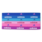 adidas Women's 6 Pack Sidespin Hairbands (Blue)
