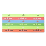 adidas Women's 6 Pack Sidespin Hairbands (Green)
