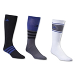 adidas Cushioned Assorted Color 3 Pack Crew Sock (Roy/Blk)